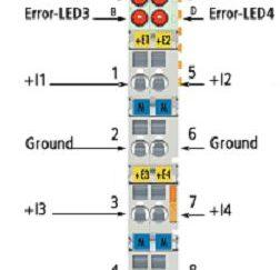 Analogowe wejścia prądowe KL3454
