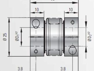Sprzęgło długość=114 mm