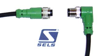 Konektor prosty z kablem SAC4P1.5PURM12FS