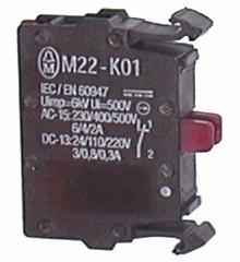 Element stykowy 1R   montowany do płyty czołowej M22-K01