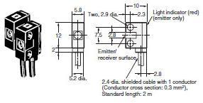 Sensor refleksyjny Laser XN96VDH3