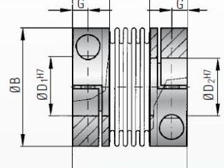 Sprzęgło podatne z wkładką elastomerową